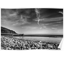 Laxey Beach on a Spring Afternoon Poster