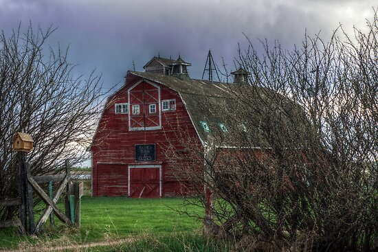 Big Red Barn is Closed by Bruce Guenter