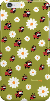 Lady Pug Pattern i-Phone and i-Pod Cases by boodapug