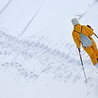 Woman snowshoeing by Sami Sarkis