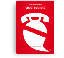 No104 My Ghost busters minimal movie poster Canvas Print