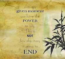 At any given moment... by Maree Clarkson