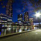 Yarra river nightwalk by drsteve