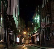 The Shambles by night in York. North Yorkshire. by keithstange