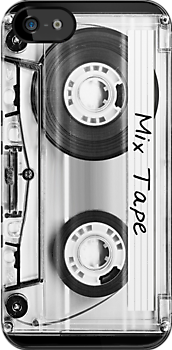Audio Cassette / Mix Tape iPhone Case by Krydel