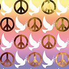 Colourful Peace Sign/Doves Case  by Jenifer Jenkins