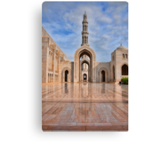 Reflections at Sultan Qaboos Grand Mosque Canvas Print