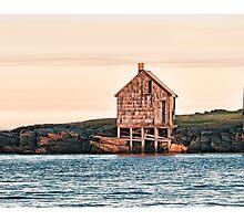 Fisherman's Shacks Evening by Richard Bean
