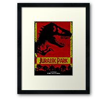 Unofficial Jurassic Park Movie Poster Framed Print