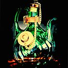 Reflective Glass Decanter  by susan stone
