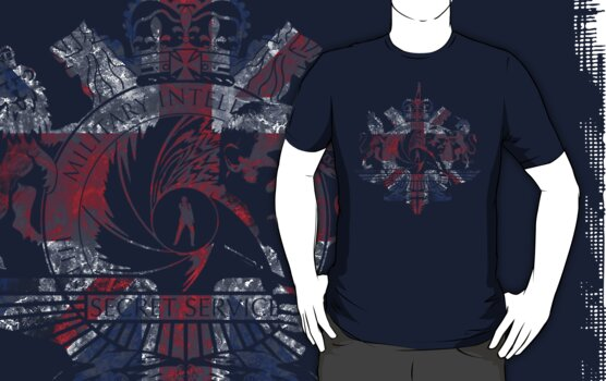 50th Anniversary Secret Agent Tee_Navy Blue ONLY  by bengrimshaw