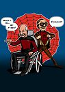 Super Hero Team-up by Michael Lee