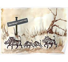 Warthogs Crossing Poster