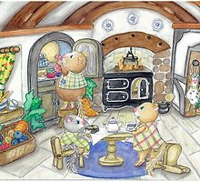 COTTAGE KITCHEN by Lynn Wright