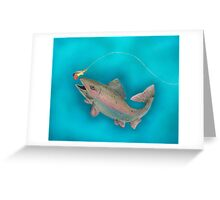 Rainbow Trout Greeting Card