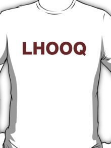LHOOQ - red T-Shirt