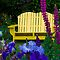 Bench In The Garden - Yellow by thomr