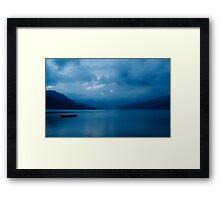 Tranquil Blue Framed Print