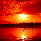 Sunset over The Nile by KerryPurnell