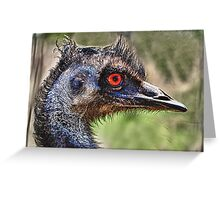 Old Man Emu with red eye Greeting Card