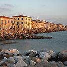 Marina di Pisa sunset view of the town by kirilart