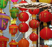 Chinese Lanterns, Ladies Market, Hong Kong by KUJO-Photo