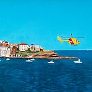 Sydney 2000 - Olympic Torch Landing by Sea - Panel 3 by Lynette Leftwich