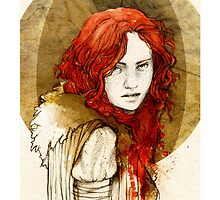 Ygritte_iPhone case by elia, illustration