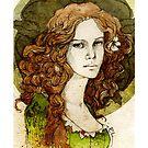 Margaery Tyrell_iPhone case by Elia Mervi