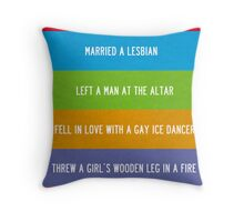 FRIENDS   the one with chandler in a box Throw Pillow