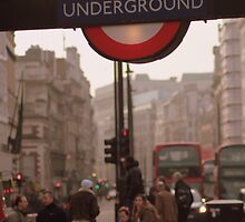 The Underground At Piccadilly Circus by Richard Crutchley