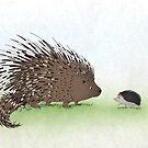 Hedgehog + Porcupine  by Mariya Olshevska