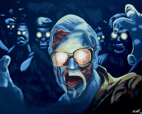 Zombie George A. Romero by Ken Eccles