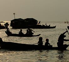 Life On Lake Tonle Sap Cambodia by Bob Christopher