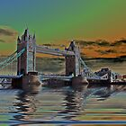 Solarised Tower Bridge by shalisa