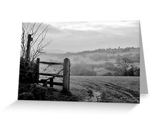 Over the fields........ Greeting Card