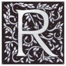 William Morris Letter R Sticker by Donnahuntriss