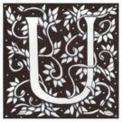 William Morris Letter U Sticker by Donnahuntriss