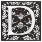 William Morris Letter D Sticker by Donnahuntriss