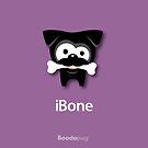 Black Pug iBone iPhone and iPod Cases (Purple) by boodapug