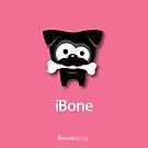 Black Pug iBone iPhone and iPod Cases (Pink) by boodapug
