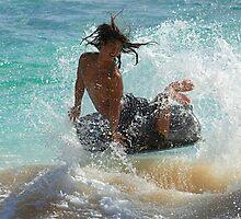 Wake Boarding Hawaii by Bob Christopher