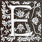 William Morris Inspired Letter E  by Donnahuntriss