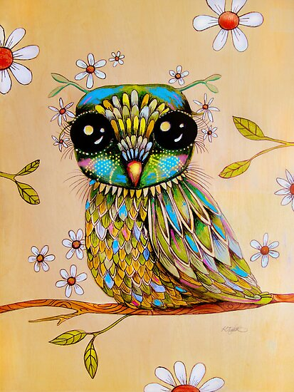 the peridot owl by Karin  Taylor