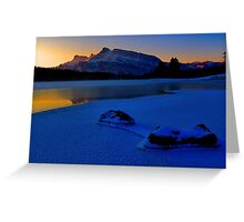 Frosty Blues Greeting Card