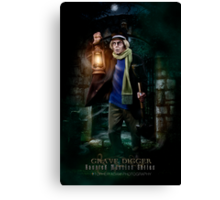 Night Shift, Haunted Mansion Series by Topher Adam The Dark Noveler Canvas Print