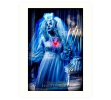 Ghost Bride, Haunted Mansion Series by Topher Adam The Dark Noveler Art Print
