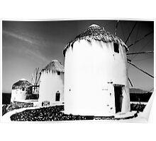 The windmills of Mykonos Poster