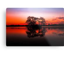 The Lakes at Sunset Metal Print
