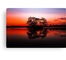 The Lakes at Sunset Canvas Print